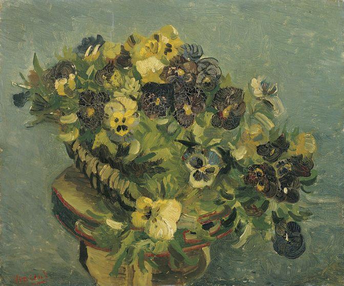 Mand met viooltjes by Van Gogh