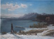 Lake Tahoe in Winter by Albert Bierstadt